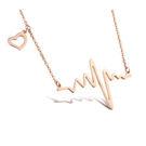【5折超值價】 最新款特色精美活力心電圖造型女款鈦鋼項鍊