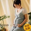 【HC5114】細肩開釦側開衩牛仔吊帶裙