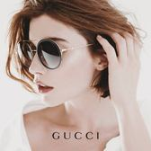 GUCCI 墨鏡 雙槓 圓框 太陽眼鏡 GG0061S 001 黑金 久必大眼鏡
