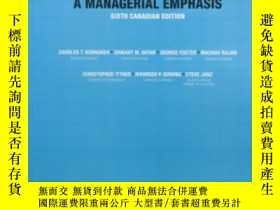 二手書博民逛書店Student罕見Solutions Manual For Cost Accounting: A Manageri