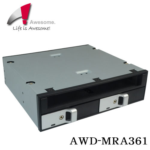 Awesome 2-bay 2.5 SAS/SATA 硬碟含光碟機擴充模組 AWD-MRA361