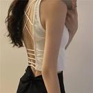 吊帶背心 短款背心吊帶女春夏新款露背內搭外穿設計感小眾內衣辣妹上衣小可愛-Ballet朵朵