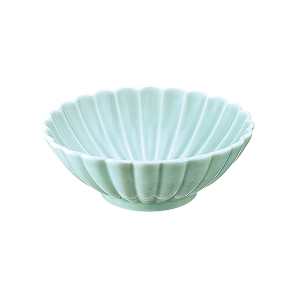 安達窯 青瓷 菊花瓣碗-SS