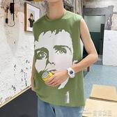 (快出)無袖T恤男夏季坎肩個性潮流嘻哈潮牌港風背心網紅ins馬甲夏天外穿