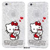 GOMO Hello Kitty 40週年 APPLE I Phone 6 透明殼 ,4.7吋專用,擁抱A款,GARMMA 三麗鷗授權