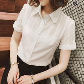 襯衫女短袖職業裝雪紡工作服