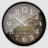 掛鐘 HICAT歐式創意木大號靜音現代時尚客廳個性臥室石英時鐘錶 YTL 鹿角巷