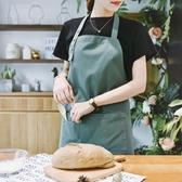 家用廚房做飯圍裙罩衣定制畫畫時尚新款日式防水廚師工作服男女