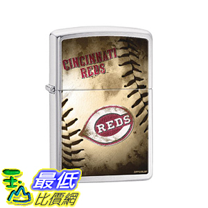[美國直購] Zippo MLB Cincinnati Reds Brushed Chrome Lighter 打火機