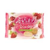 日本柿原鬆軟草莓奶油風味夾心蛋糕10入