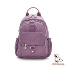 B.S.D.S冰山袋鼠 - 時光旅人 - 知性單肩後背兩用包 - 深芋紫【B108-2U】