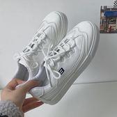 DE SHOP~老爹鞋ulzzang原宿超火百搭ins板鞋 帆布鞋白色~(GT-206)