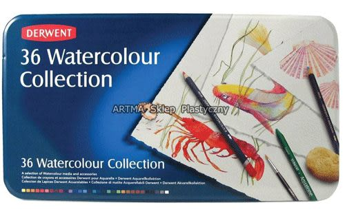 Derwent 達爾文 watercolor aquatone 水溶性36C色鉛筆*0700305