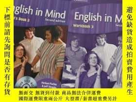 二手書博民逛書店English罕見in Mind Level 3 Students Book +Workbook(附光盤,書內有字