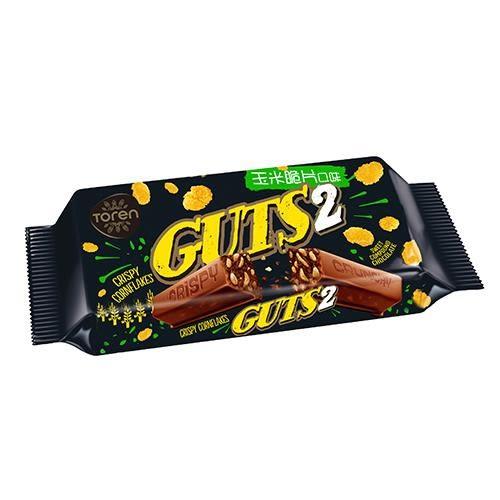 Guts2玉米脆片巧克力風味棒55g【愛買】