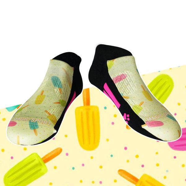 冰棒 抗菌除臭潮鞋踝襪 JG-018【19Y14W03】防磨彩色踝襪