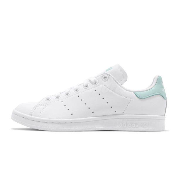 adidas 休閒鞋 Stan Smith W 白 綠 女鞋 運動鞋 【PUMP306】 EF9318