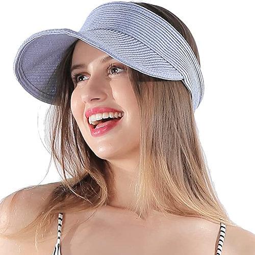 女防曬防紫外線可折疊遮陽草帽