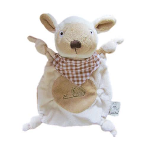 法國 Doudou 安撫巾-經典小柔羊 22cm【Les Petites Marie】