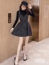 吊帶裙 2020新款裙子兩件套打底衫網紅收腰顯瘦拜年裙吊帶洋裝女秋裝 開春特惠