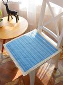 坐墊 編織棉麻夏季辦公室椅子凳餐椅墊學生墊子家用座墊布藝屁股墊透氣 夢露時尚女裝