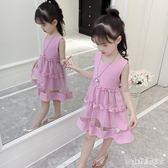 2019新款寶寶韓版小女孩夏季洋裝公主裙 aj7565『pink領袖衣社』