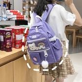 森系古著感書包雙肩包2020年新款時尚潮流韓版高中校園大容量背包 Cocoa