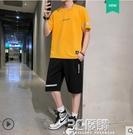 運動套裝男士2021新款潮牌短袖夏季潮流青少年帥氣休閒一套裝衣服 3C優購