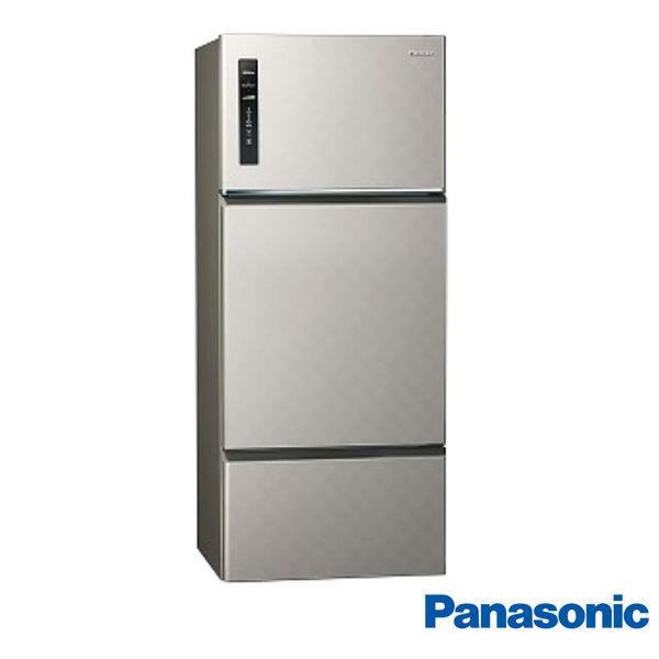 最後一台!! 國際牌 Panasonic 一級能效 481L 三門無邊框變頻冰箱-銀河灰 NR-C489TV-S 限北北基安裝配送