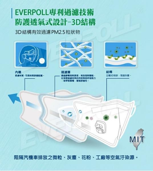 EVERPOLL 愛惠浦科技 【防霾PM2.5口罩】 (10入含透氣閥)