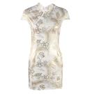 旗袍洋裝 夏季2021年新款年輕款少女風改良版旗袍短款開叉修身性感連身裙潮