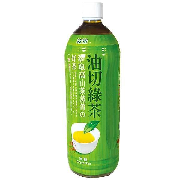 波蜜油切綠茶無糖980ml