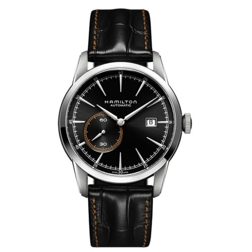 HAMILTON RailRoad系列/漢米爾頓 小秒針機械錶(H40515731)-黑/42mm