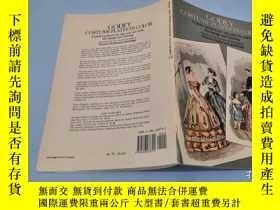 二手書博民逛書店英文原版16開書籍:GODEY罕見COSTUME PLATES
