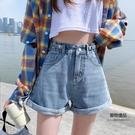 高腰牛仔短褲女超高腰夏季寬鬆夏裝薄款春款...