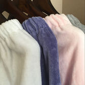 浴裙裹胸浴袍純棉割絨浴巾毛巾料抹胸