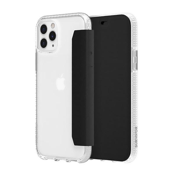 Griffin Survivor Clear Wallet iPhone 11 Pro Max 透明背套防摔側翻皮套(IAPGIP039)