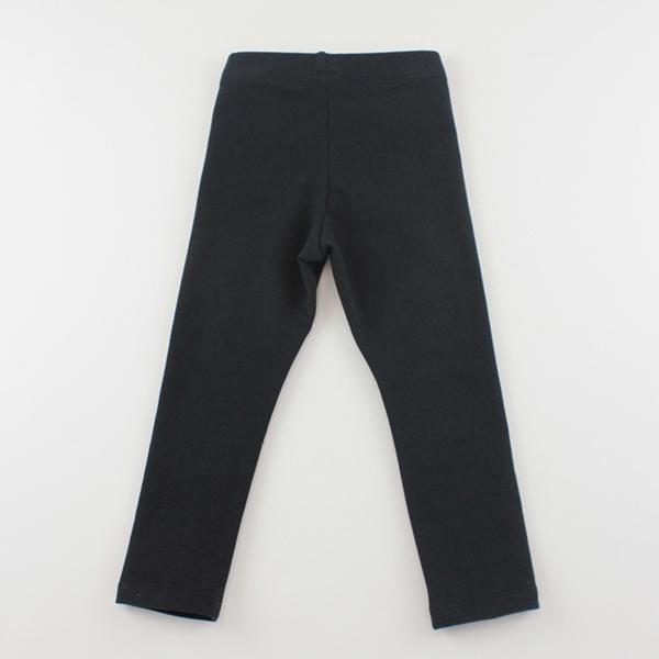 【愛的世界】彈性微笑小熊甜心緊身長褲-黑/1~4歲-台灣製- ---秋冬下著