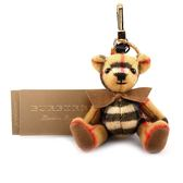 【BURBERRY】蝴蝶結造型cashmere Thomas泰迪熊吊飾/key 8003330 A2442