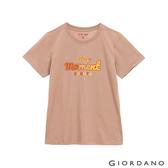 【GIORDANO】女裝ON印花T恤 - 32 暖灰褐
