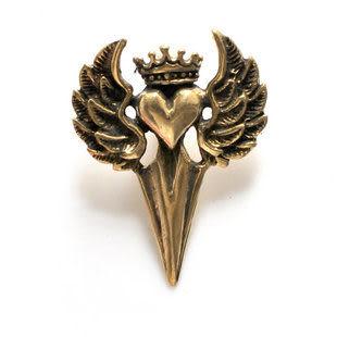 金翅鳥純銅吊墜 立體紋面純銅