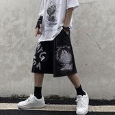 嘻哈潮牌運動短褲男韓版潮流ins夏季闊腿五分褲子男薄款寬鬆中褲 中秋特惠