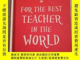 二手書博民逛書店For罕見the best teacher in the worldY16587 SUMMERSDALE SU