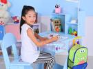 *幼之圓*最新升級版書桌~卡通兒童成長升降書桌椅組~木質升降兒童書桌椅