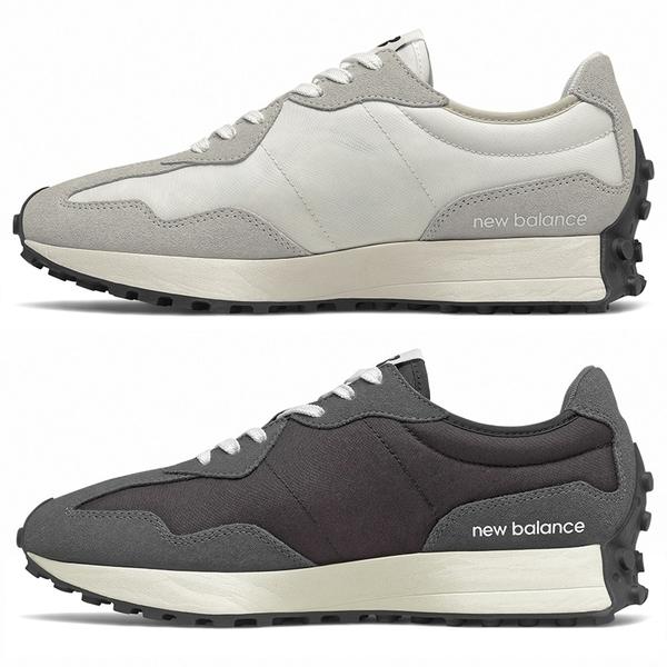 【現貨】New Balance 327 男鞋 女鞋 慢跑 休閒 復古 拼接 米白 / 深灰【運動世界】MS327FE / MS327FF