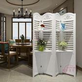 屏風折屏簡約現代臥室屏風隔斷玄關時尚客廳雕花折疊置物架歐式屏風xw 中元節禮物