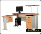 {{ 海中天休閒傢俱廣場 }} C-22 摩登時尚 辦公桌系列 184-23A CD秘書桌-160cm(木紋檯面)