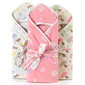 嬰兒抱被新生兒包被純棉紗布初生兒被子寶寶嬰兒用品浴巾抱被 卡布奇诺