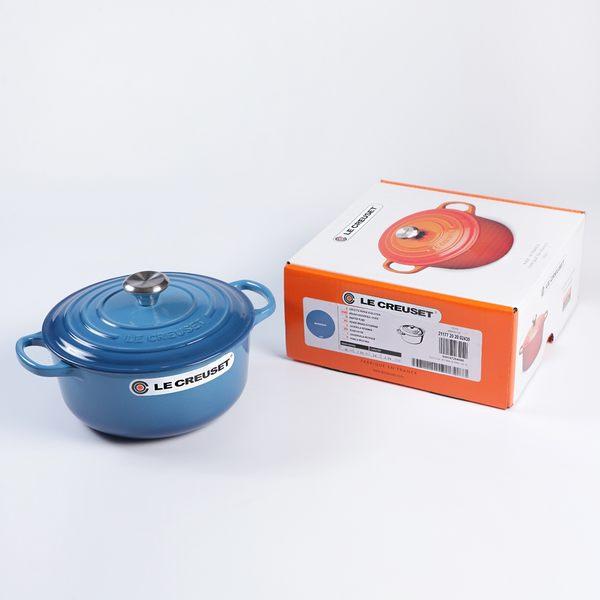 Le Creuset 新款圓形琺瑯鑄鐵鍋 20cm 2.4L 馬賽藍 法國製【Casa More美學生活】