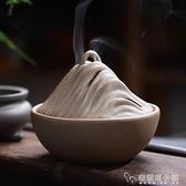 弘毅齋順風順水香爐陶瓷檀香盤香爐家用茶道室內凈化空氣熏香薰爐